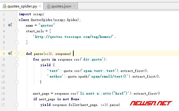 scrapy爬虫系列:scrapy入门demo - python_code