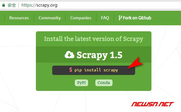 scrapy爬虫系列:scrapy入门demo - pip_install_scrapy