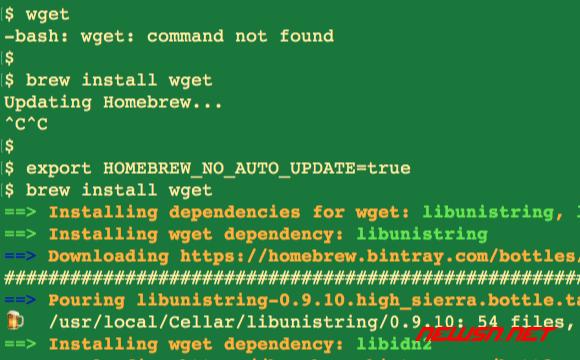 命令行下的实用小工具wget如何下载安装? - mac_install_wget