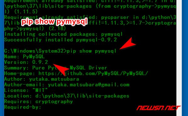 scrapy爬虫系列:利用pymysql操作mysql数据库 - pip_show_pymysql